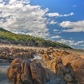by Steve Hunt - Landscapes Beaches ( sky, beach, rocks )
