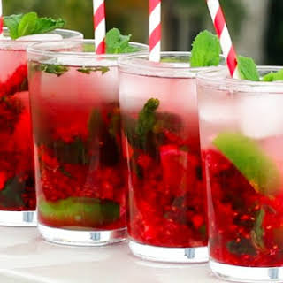 This Tasty Raspberry Mojito Punch Is The Perfect Refreshing Spring Cocktail.