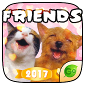 Keyboard Sticker Pet Friends