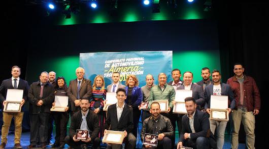 Entregados los galardones del Campeonato Provincial de Automovilismo de Almería