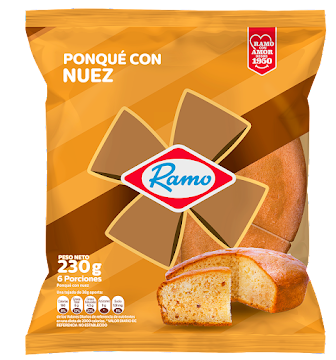 Ponqué RAMO Nuez x230g