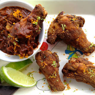 Choco-Chili Chicken Wings.