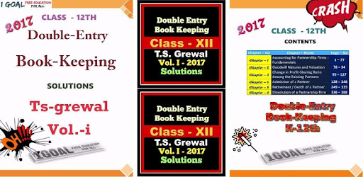 Account Class-12 Solutions (TS Grewal Vol-1) 2017 - by