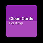 Clean Cards! For Klwp v1.1