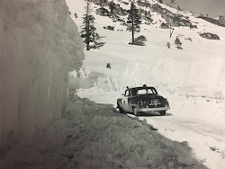 1960's CHP near Donner Lake in Snow