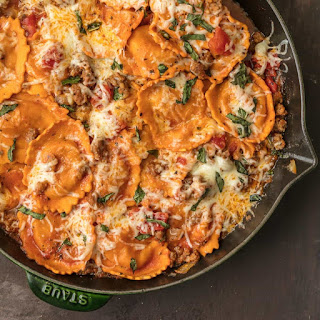 Cheesy Ravioli Skillet Recipe