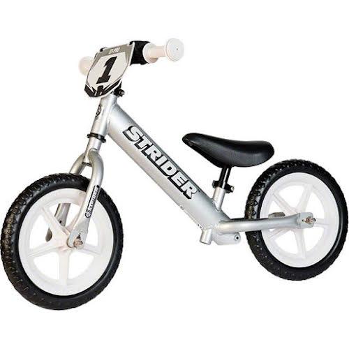 Strider Sports Strider 12 Pro Kids Balance Bike: Silver