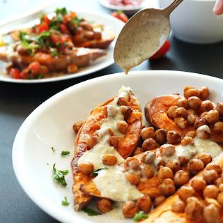 Mediterranean Baked Sweet Potatoes.
