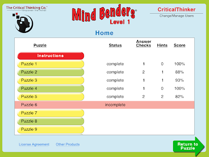 Mind Benders® Level 1- screenshot thumbnail