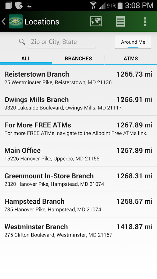 Farmers & Merchants Bank- screenshot