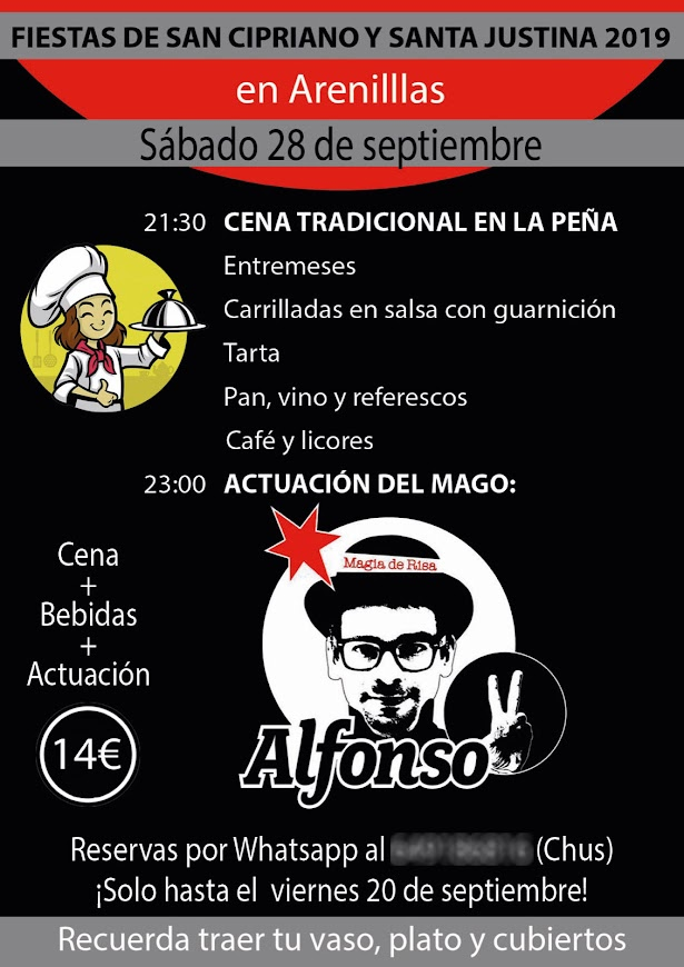 Cartel fiestas Arenillas Soria