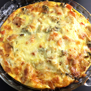 Crustless Roasted Vegetable Quiche.