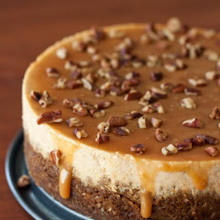 Pumpkin, Caramel, Pecan Cheesecake