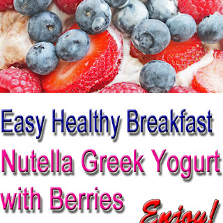 Nonfat Greek Yogurt with Nutella and Berries.