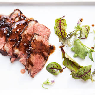 Pan Roasted Duck Breast with Balsamic Orange Glaze.