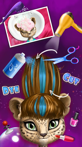 Space Animal Hair Salon Screenshot