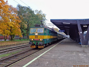 """Photo: 163 034-2 """"Helena"""", IR """"Flisak"""" Toruń Główny - Warszawa Wschodnia {Toruń Główny; 2013-10-10}"""