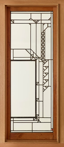 Window panel from Francis Little House billiard room