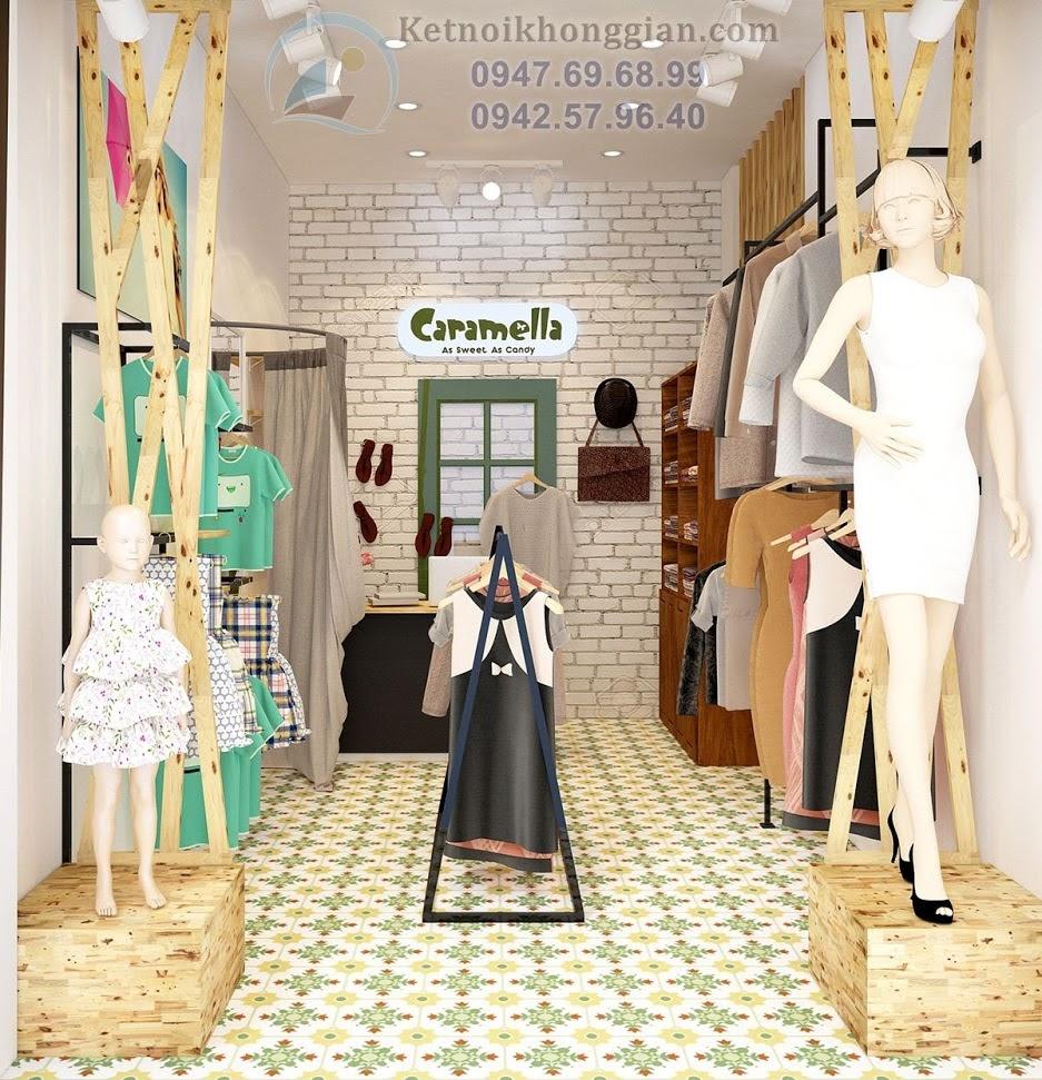 thiết kế shop thời trang mẹ và bé đẹp mắt