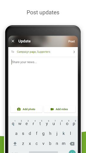 Screenshot 3 for GoFundMe's Android app'