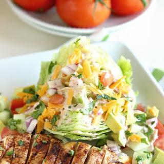 Chicken Fajita Wedge Salad.