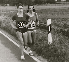 Photo: Nina Kuscsik and Jacqueline, 1974 International Women's Marathon, Waldniel, West Germany