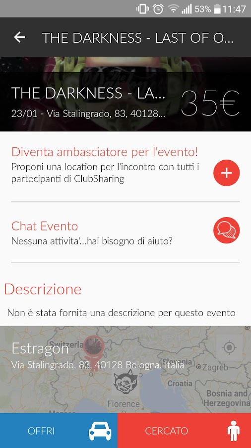 ClubSharing- screenshot