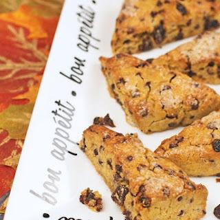 Gluten Free Pumpkin Chocolate Raisin Scones