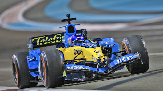 Alonso disfrutó con el Renault R25 que le hizo campeón en el 2005
