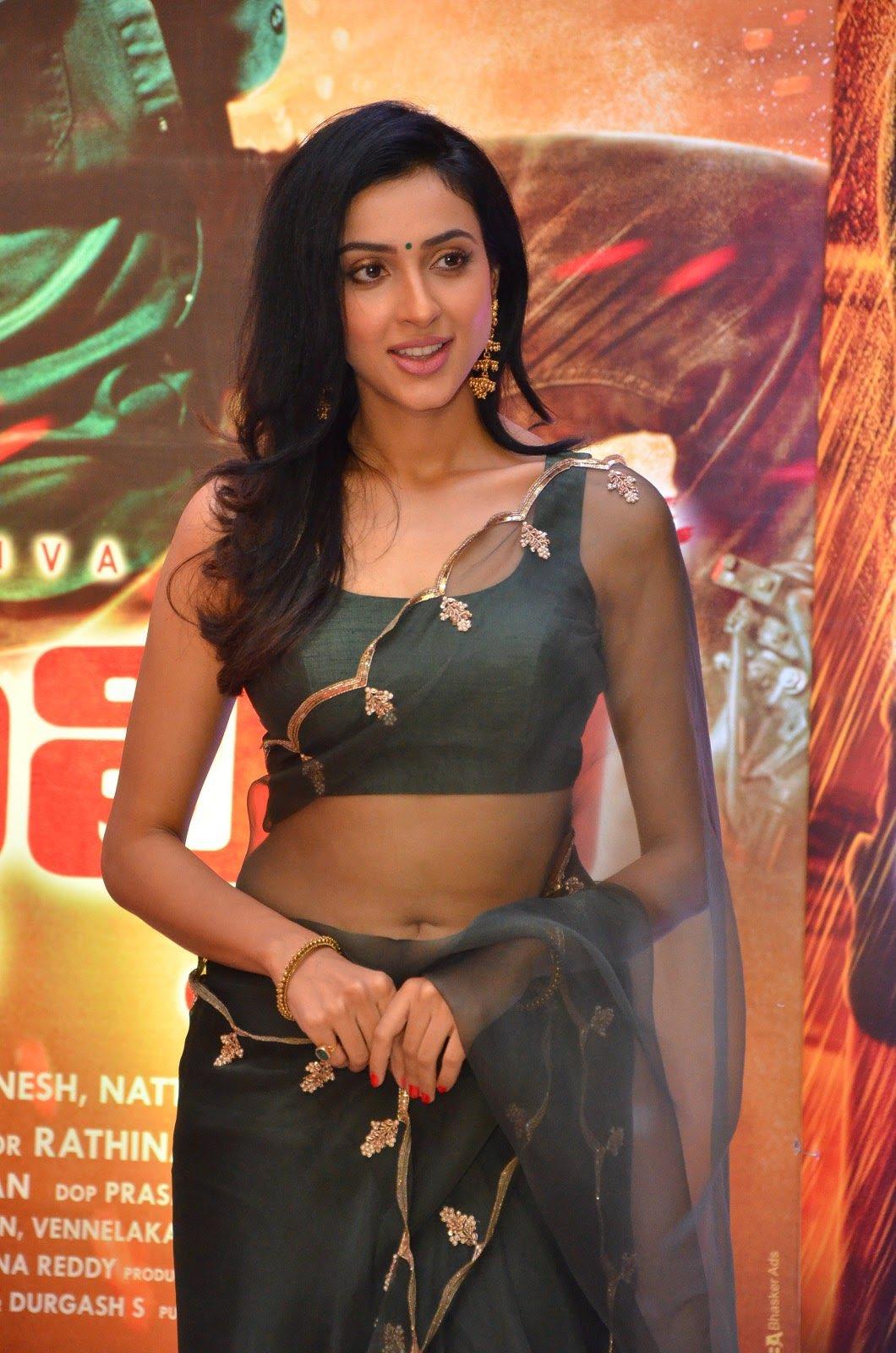 Riya Suman in transparent saree seen through at Stalin movie pre release event Navel Queens