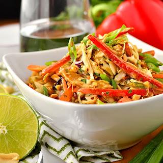 Thai Crunch Salad with Thai Peanut Dressing Recipe