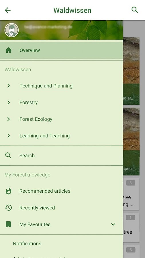 waldwissen.net - RSS reader- screenshot