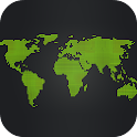 Black Map Live Wallpaper icon