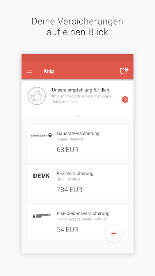 Knip Versicherungsmakler- screenshot