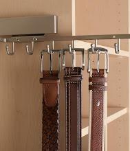 Photo: Closet detail: belt storage