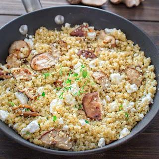 Quinoa with Mushrooms and Feta.