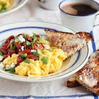 Spicy Beans With Scrambled Eggs.