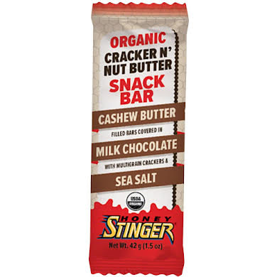 Honey Stinger Cracker N' Nut Butter Snack Bars: Cashew Butter Milk Chocolate, Box of 12