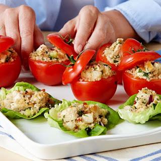 Grilled Chicken Quinoa Lettuce Cups