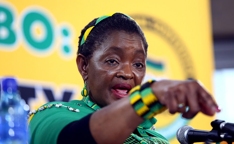 ANC Womens' League President, Bathabile Dlamini addresses the media about the loss of their ANC Presidential candidate Dr Nkosazana Dlamini Zuma.