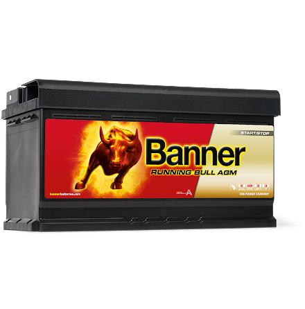 Startbatteri Banner 12V/92Ah Running Bull AGM