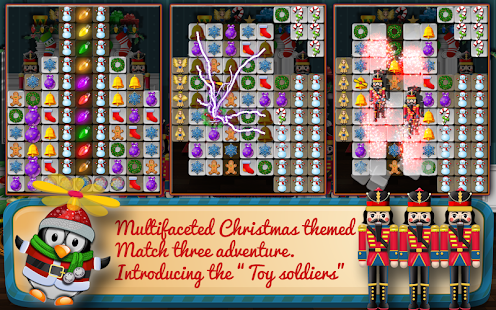 Christmas Drops 4 - Match three puzzle Screenshot