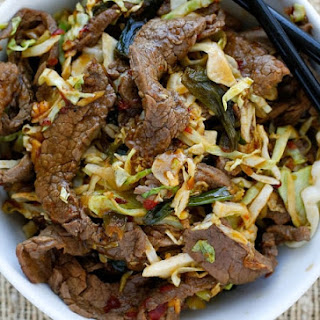 Mongolian Beef with Noodles.