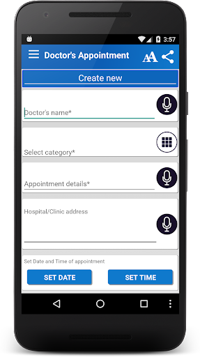Doctor Appointment Reminder screenshot for Android