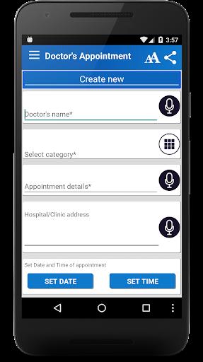 Aplicații Doctor Appointment Reminder pentru Android screenshot