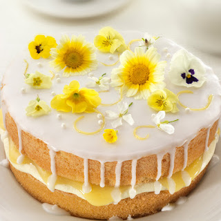 Lemon And Elderflower Drizzle Cake.