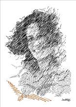 """Photo: Bruno Steinbach. """"MARIA BONITA SEBASTIANA, opus XI"""". Infogravura/papel couchê, crayon, 42 x 29,7 cm, junho de 2010, Paraíba, Brasil."""