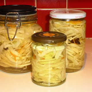 Homemade Pickled Fennel with Star Anise and Orange