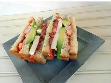Caprese and Shrimp Cocktail Sandwich
