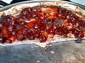 STUFFED CRUST APPLE AND CHERRY PIZZA